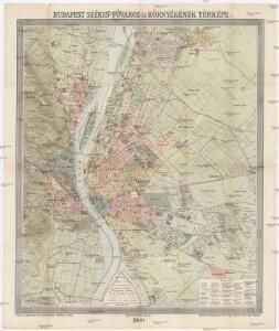 Budapest székes-fövaros és környékének térképe