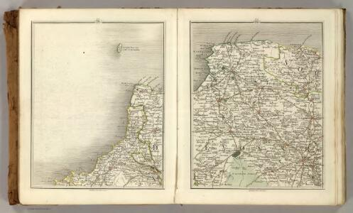 Sheets 11-12.  (Cary's England, Wales, and Scotland).