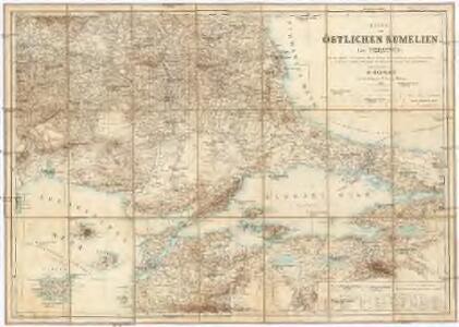Karte vom Östlichen Rumelien