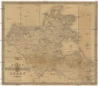 Karte von Neu-Vorpommern und der Insel Rügen