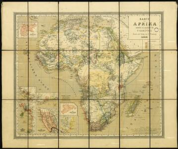 Map of Africa, drafted and drawn by F. Handtke