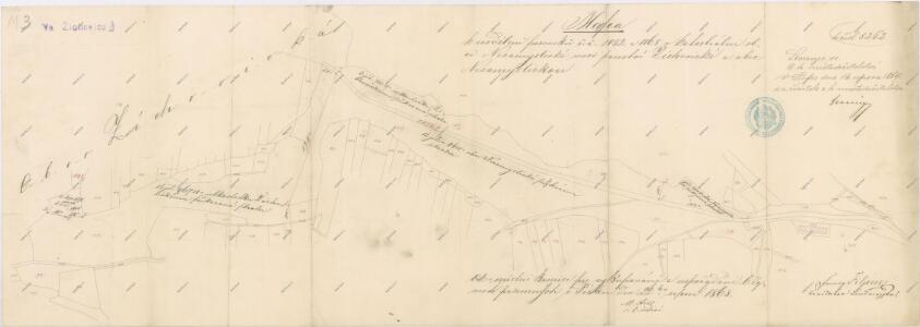 Mapa rozdělení pozemků