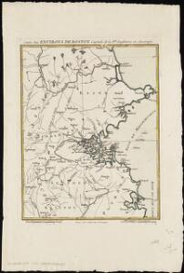 Carte des environs de Boston, capitale de Nlle. Angleterre en Amerique