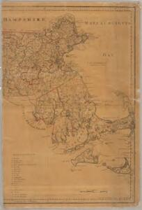 An accurate map of the Commonwealth of Massachusetts exclusive of the District of Maine : compiled pursuant to an act of the General Court from actual surveys of the several towns &c. taken by their order, exhibiting the boundary lines of the Commonwealth, the counties and towns, the principal roads, rivers, mountains, mines, islands, rocks, shoals, channels, lakes, ponds, falls, mills, manufactures & public buildings, with the true latitudes & longitudes, &c : Eastern sheet