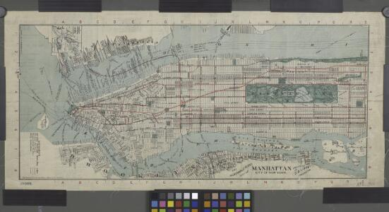 Title on face of map: Albemarle Hotel map of Manhattan, City of New York