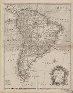 A map of South America with all the European settlements & whatever else is remarkable : from the latest & best observations