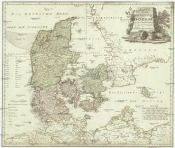 Karte von dem Koenigreiche Daenemark