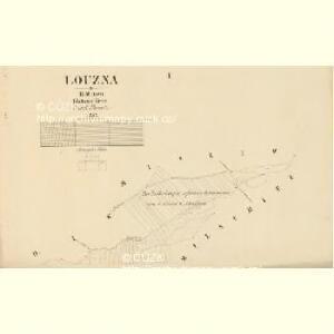 Louzna - c4262-1-001 - Kaiserpflichtexemplar der Landkarten des stabilen Katasters