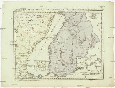 Postkarte von Finnland und Norrland