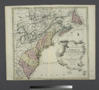 Mappa geographica Americae Septentrionalis: ad emendatiora exemplaria adhuc edita jussu Acad. reg. scient. et eleg. litt. descripta. pars. II.