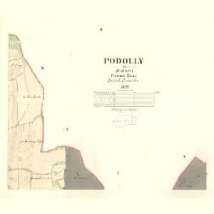 Podolly - m2334-1-002 - Kaiserpflichtexemplar der Landkarten des stabilen Katasters
