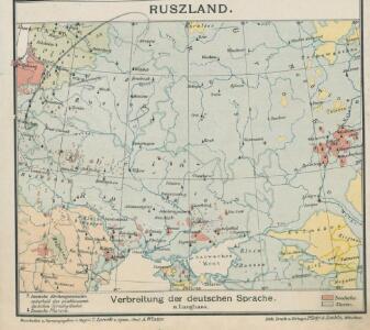 Ruszland, Verbreitung der deutschen Sprache