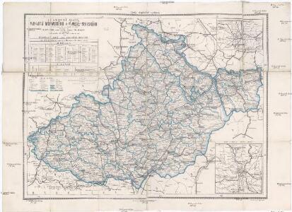 Cestovní mapa Markrabství moravského a Vévodství slezského