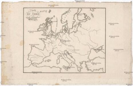 Carte du nord et de l'occident de l'Europe