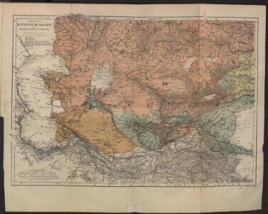 Karte von Russisch-Asien vom Kaspischen Meere bis Kuldscha