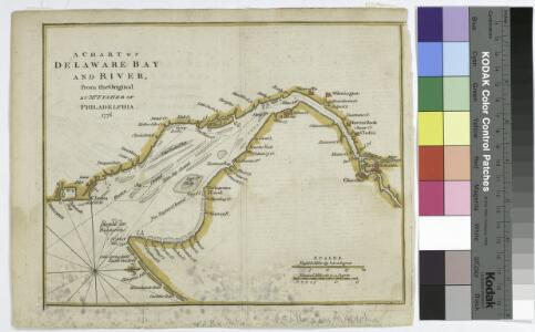 A chart of Delaware Bay and River / from the original by Mr. Fisher of Philadelphia, 1776.