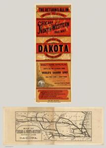 Map Of Chicago & North-Western Railway Lines (To) Dakota.