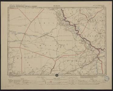 Carte des colonies de l'A.O.F. Bakel