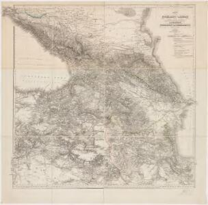 Karte der Kaukasus-Länder und der angränzenden Türkischen und Persischen Provinzen Armenien, Kurdistan, und Azerbeidjan