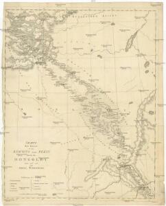 Charte der Reise von Kiachta nach Pekin durch die Mongoley