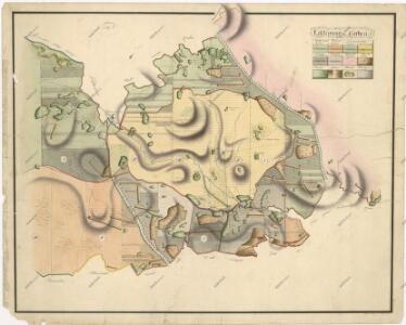Hospodářská lesní mapa panství Tachov - část Obora