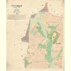 Neudorf (Nowa-Wes) - c5224-1-001 - Kaiserpflichtexemplar der Landkarten des stabilen Katasters