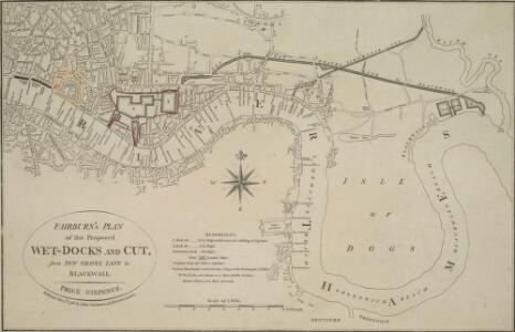 FAIRBURN'S PLAN of the proposed WET-DOCKS AND CUT from NEW GRAVEL LANE to BLACKWALL