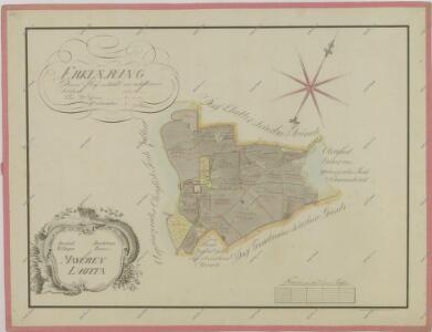 Mapa pozemků dvora Lhota 1