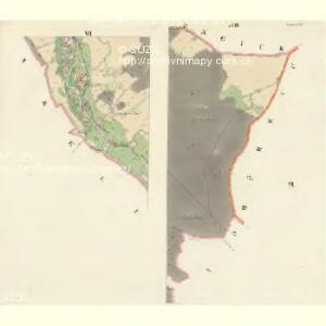 Oskau (Oskawa) - m2174-1-005 - Kaiserpflichtexemplar der Landkarten des stabilen Katasters