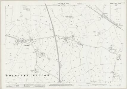 Cheshire XLVII.10 (includes: Golborne Bellow; Hatton; Huxley; Newton by Tattenhall; Tattenhall) - 25 Inch Map