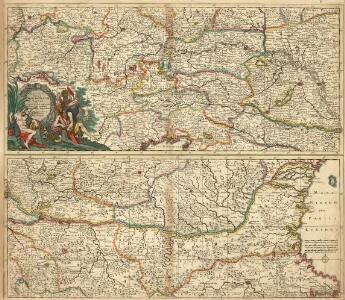 Exactissima Totius Danubii Fluvii Tabula et minores in eum influentes Fluvii cum Omnibus adjantibus Regionibus