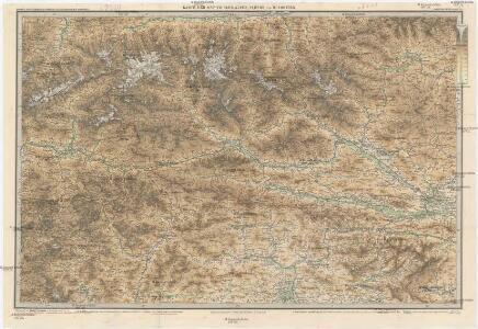 Karte der Ost-Tiroler Alpen, Tauern und Dolomiten