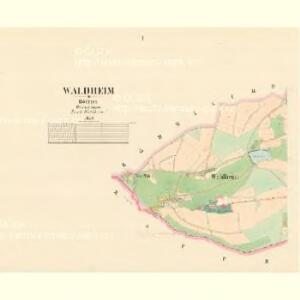 Waldheim - c9041-2-001 - Kaiserpflichtexemplar der Landkarten des stabilen Katasters