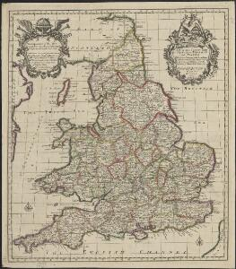 A new and correct map of the roads in England and Wales wherein are contained all the road waies and the principal cross roads, with the computed distances [...] &c.