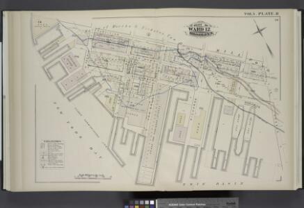 Vol. 5. Plate, R. [Map bound by Partition St., Otsego St., Erie Basin, New York Bay; Including Van Dyke St., Elizabeth St., Reid St., Ferris St., Conover St., Van Brunt St., Richards St.]