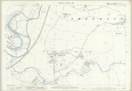 Essex (1st Ed/Rev 1862-96) XLI.3 (includes: Harlow; Sawbridgeworth; Sheering) - 25 Inch Map