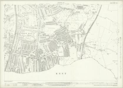 London (1915- Numbered sheets) XIII.4 (includes: Beckenham; Lewisham) - 25 Inch Map