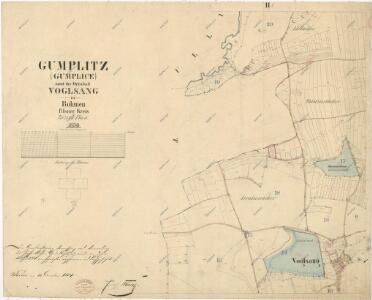 Katastrální mapa obce Kumpolec