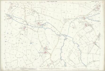 Somerset XI.14 (includes: Blagdon; Burrington; Wrington) - 25 Inch Map