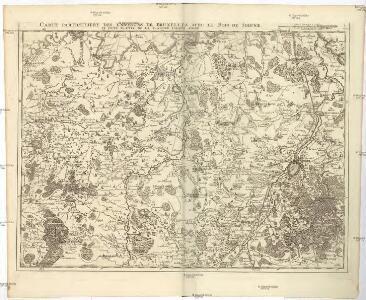 Carte particuliere des environs de Bruxelles avec le Bois de Soigne et d'une partie de la Flandre jusques a Gand