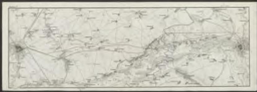 Topographische Karte von der Gegend zwischen Magdeburg, Leipzig u. Dresden, welche die Eisenbahn berührt