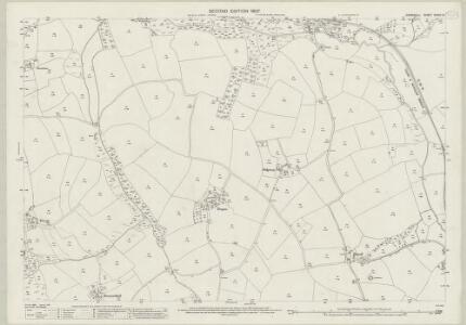 Cornwall XXXIX.12 (includes: Cubert; Newlyn) - 25 Inch Map