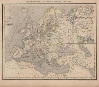 Europa Post Bellum Triginta Annorum. (1650-1700)