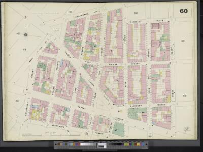 Manhattan, V. 3, Double Page Plate No. 60 [Map bounded by Waverley Pl., Perry St., Greenwich St., Gansevoort St.]