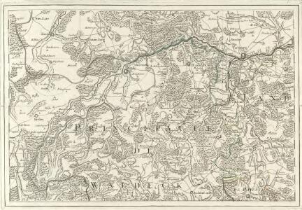 Tableau Topographique Qui comprend la Partie Septentrionale du Landgraviat de Hesse Cassel et de la Principauté de Waldeck, l'Eveché de Paderborn, Partie du Comté de Grubenhague et les Frontieres de ces Etats]