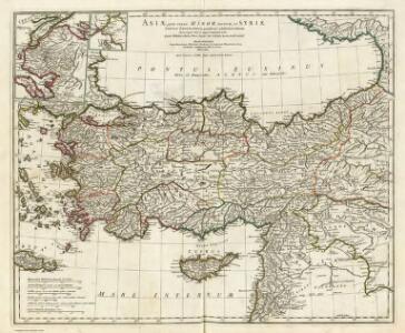 Asiae, quae vulgo Minor dicitur, et Syriae tabula geographica.