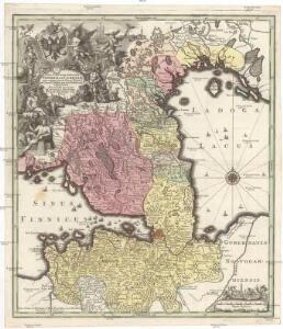 Nova et accurata delineatio Ingriae et Careliae cum magna parte Sinus Finnici et Lacus Ladogae, nec non insularum adjacentium