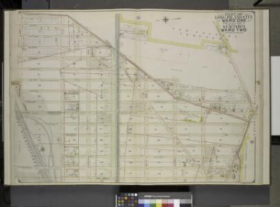 Queens, Vol. 2, Double Page Plate No. 5; Part of Long Island City Ward One (Part of Old Ward 2) and Part of Newtown Ward 2. [Map       bounded by Middleburg Ave., Woodside Ave., Celtic (Highway to Calvary Cemetery)  Ave., Bushwick and Newtown Turnpike