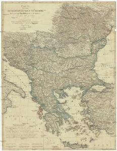 Carte von der europaischen Türkey