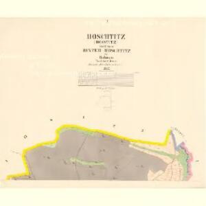 Hoschtitz (Hosstitz) - c7453-1-001 - Kaiserpflichtexemplar der Landkarten des stabilen Katasters